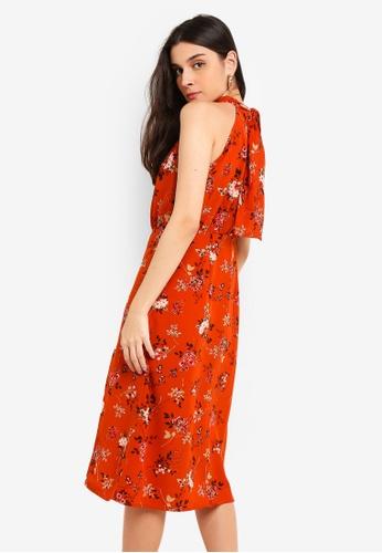 c3d9b0bab3646 Buy Vesper Paloma Tie Neck Midi Dress | ZALORA HK