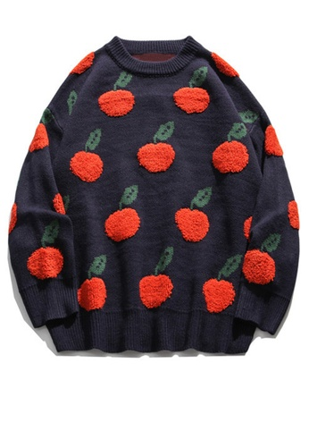 Twenty Eight Shoes Trend Embroidered Apple Knit Sweater HH0538 51C5CAA110A154GS_1