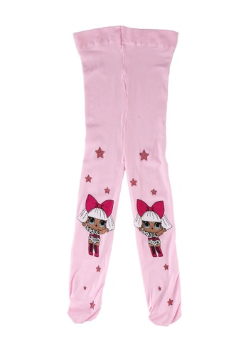 LC Waikiki pink Girl's Lol Baby Patterned Tights 8A01DKAC60E42FGS_1