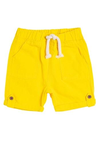 KOTON yellow Casual Baby Shorts 0C93BKAAF91B17GS_1