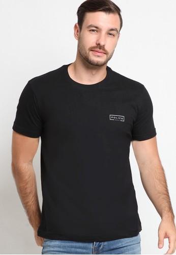 Police Denim black Graphic Cotton Fashion Tee EDC86AAB9CE32CGS_1