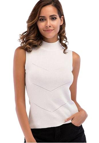 Twenty Eight Shoes white VANSA Knit Cami Top  VCW-Se5730 3CB0FAACA718E9GS_1