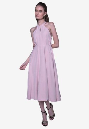 Caoros pink Halter Dress 78612AAFB97713GS_1