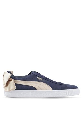 puma blue Prime Suede Bow Varsity Women's Shoes 9B1D6SHE6E6B8CGS_1