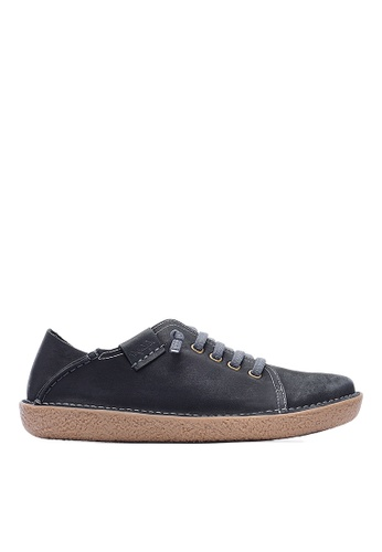 Life8 black 2 Way Mules Sneaker Shoes In Nubuck Leather-09654-Black LI286SH0RKNYMY_1