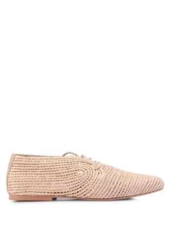 Mango beige Braided Shoes DF1BASH8436FE8GS_1