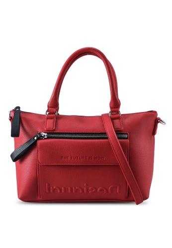 Desigual red Logo Top Handle Shoulder Bag E2B4DAC3B1027FGS_1