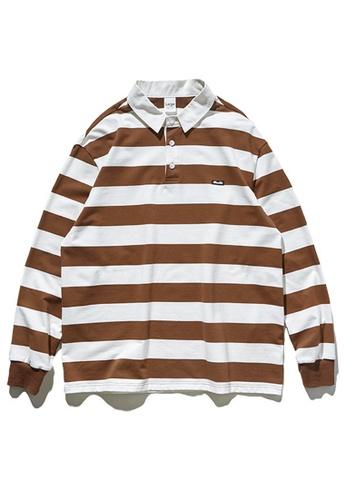 Twenty Eight Shoes Retro Contrast Stripe Long T-shirt 91504W 5B267AA184A1A3GS_1