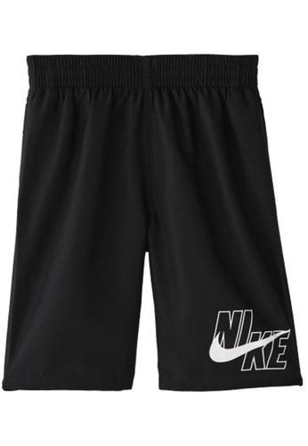"""Nike black Nike Swim Boy's Logo Solid Lap 8"""" Volley Short EC081USBF89BFCGS_1"""