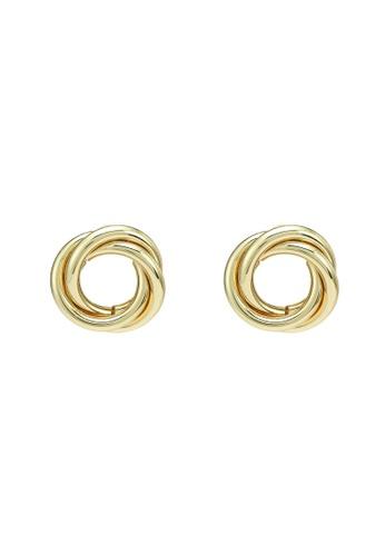 Red's Revenge gold Eternity Stud Earrings 41B83AC18C595CGS_1