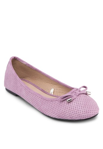 Manhattan 沖孔娃娃鞋, zalora是哪裡的牌子女鞋, 鞋