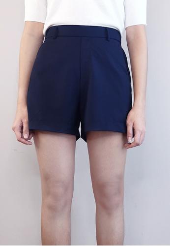 SUB navy Women Elastic Shorts 4F4A2AA23E219DGS_1