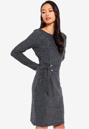 ESPRIT 黑色 針織短洋裝 51F88AA2BBAAC9GS_1