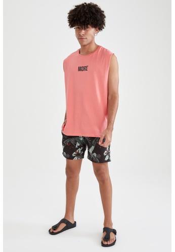 DeFacto red Sleeveless Cotton T-shirt CB49EAA4DF47B9GS_1