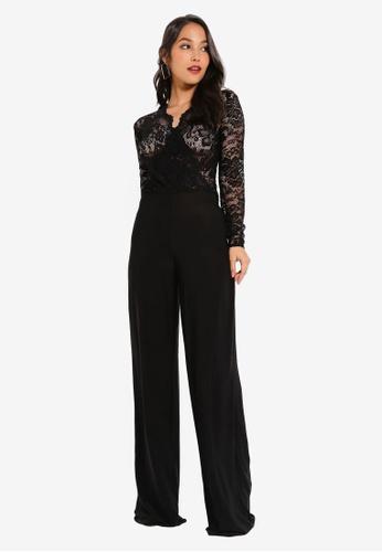 3b1750d40126 Shop MISSGUIDED Lace Wide Leg Jumpsuit Online on ZALORA Philippines