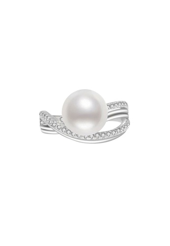 Pearly Lustre silver Pearly Lustre Elegant Freshwater Pearl Ring WR00070 F6D08AC9EEEDF4GS_1