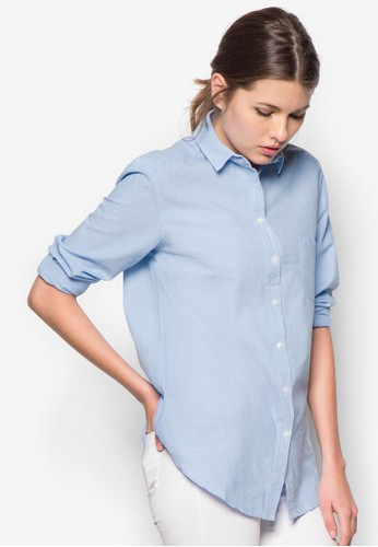棉質長袖襯衫zalora退貨, 服飾, 服飾