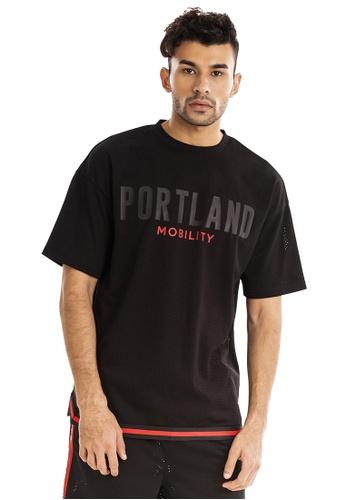 RYZ black RYZ Portland Basketball Mesh Black T-Shirt. 2E062AA2903BCCGS_1