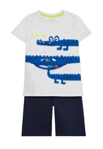 Du Pareil Au Même (DPAM) grey Crocodile Pajamas B627DKABE0251BGS_1