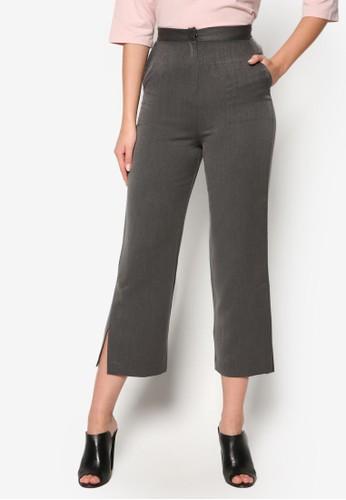 韓尖沙咀 esprit式風格側開叉寬鬆長褲, 服飾, 長褲及內搭褲
