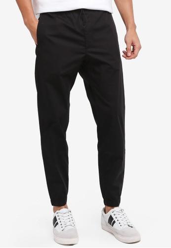 MANGO Man black Stretch Cotton Trousers 6952EAA103413FGS_1