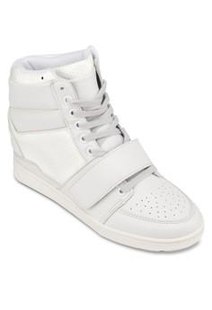 High-Cut Wedge Sneakers