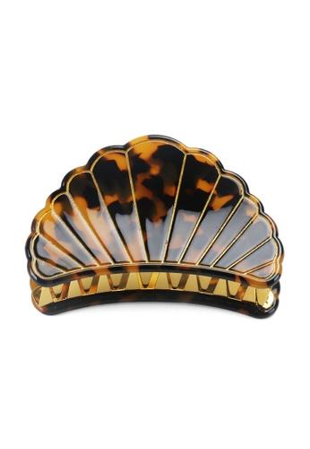Kings Collection brown Scallop Shell Hair Clip (HA20253) 2B540AC2D2962AGS_1