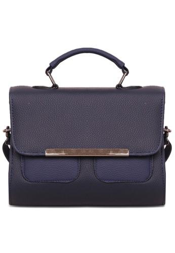 Quincy Label navy Tas Sling Bag / Korean Fashion Nissa Hand Bag / Tas Fashion Wanita - Navy 43C32ACFBD55B9GS_1
