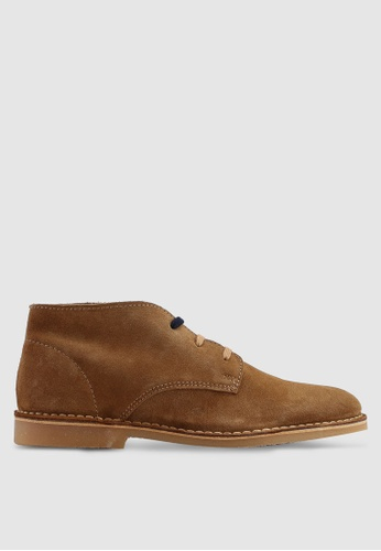 Selected Homme brown Royce Desert Suede Boots FDAA5SHC8F87EEGS_1