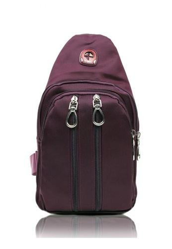 Attraxion Men's and Accessories purple Kieth Crossbody Bag for Men 2D700AC075B458GS_1