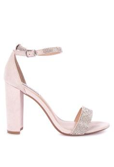 e25ae5831fe Steve Madden silver and beige Carrson-R Heeled Sandals 5CB1DSH3826CD1GS 1