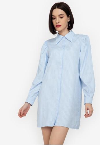 ZALORA WORK multi Structured Sleeves Shift Shirt Dress 5D177AA42E6E56GS_1