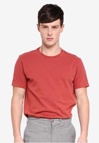 J.Crew 紅色 Men's Original T-Shirt D5A44AA98861ADGS_1