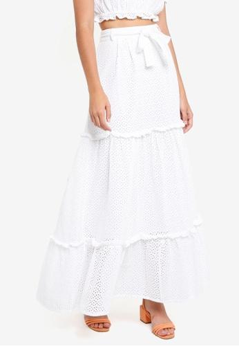 Vero Moda white Anna Maxi Skirt 3E023AAA516998GS_1