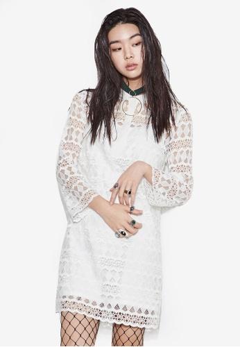 NAIN white Lace Shift Dress CE4EDAA0CB1147GS_1