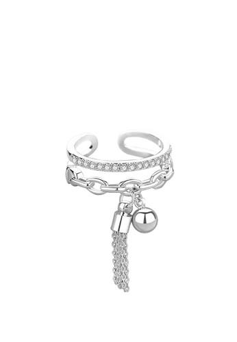 BE.JUU silver Cincin Wanita BE.JUU Linked Adjustable Silver Aksesoris Perhiasan Wanita 0538AAC4A7EE1CGS_1