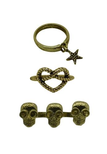 Fur Nyce gold Gothic Fashion Ring Set FU779AC0RIZKMY_1