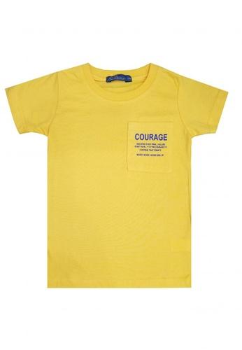 BOSSINI KIDS yellow Printed Shirt with Pocket 15EABKA4A3F07FGS_1