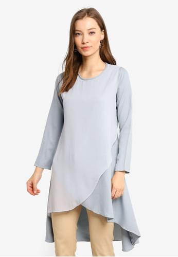 Aqeela Muslimah Wear blue Fishtail Top E3BC7AA2B30446GS_1