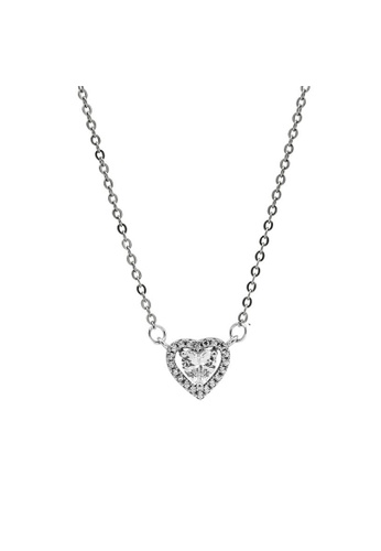 LYCKA silver LDR1234 S925 Silver Sparkling Heart Necklace B4307ACDC30A21GS_1