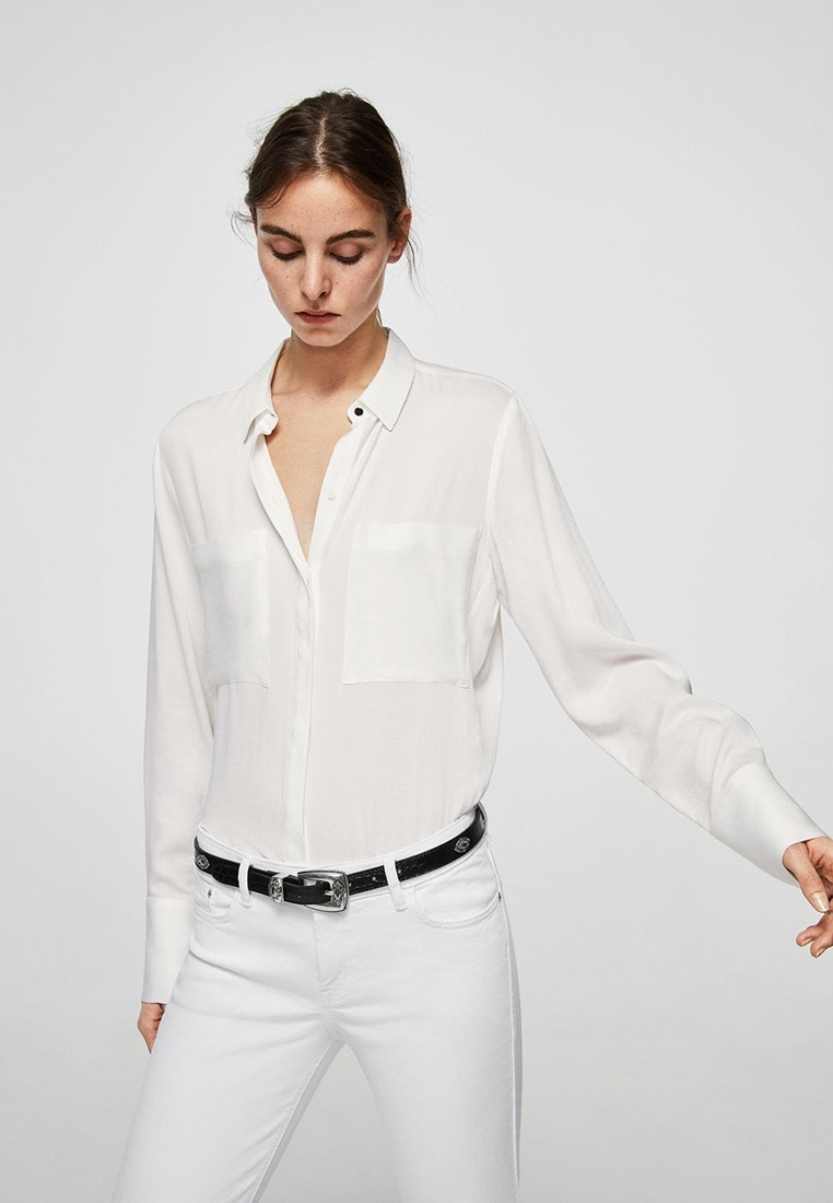 Isa Mango White Jeans Skinny Crop W1YfR7pwA