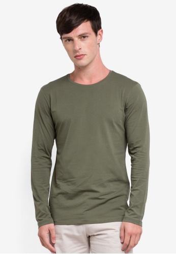 ESPRIT 綠色 長袖T恤 D8A9FAA70F3957GS_1