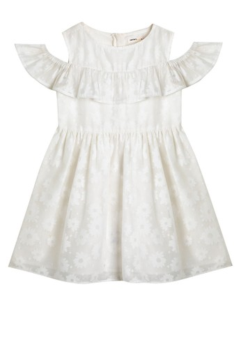 KOTON white Cold Shoulder Dress 27874KAB56A279GS_1