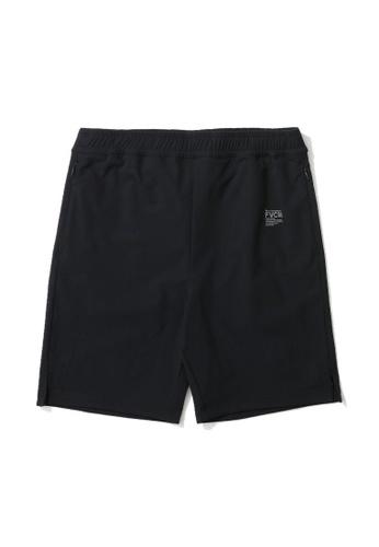 Fivecm black Logo print sweat shorts 2D614AA3569FCFGS_1