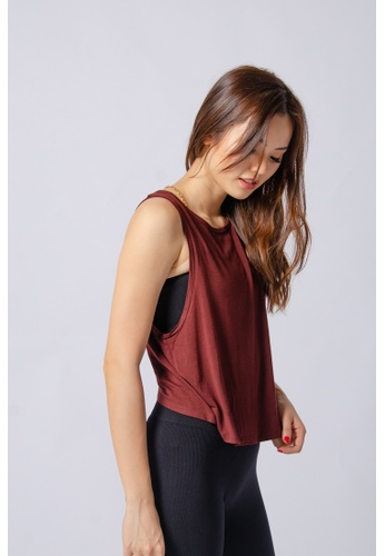 Anya Active red Anya Active So Carefree Muscle Tank in Sangria B98B3AA245AEB4GS_1