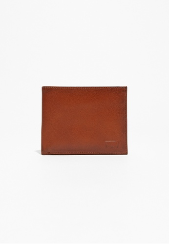 Levi's brown Levi's Inlay Bifold Wallet LE815AC50QXTMY_1
