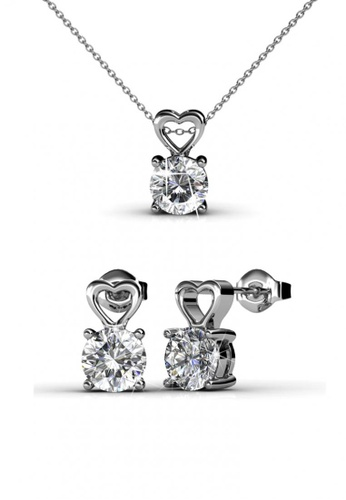 Her Jewellery silver Sweet Love Set with Premium Grade Crystals from Austria 0250FAC0AA8C56GS_1