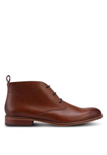 Dune London brown Messi Smart Chukka Boots 4EFEESH5540174GS_1