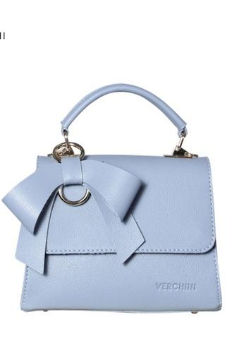 Verchini blue Verchini Front Flap Top Handle Bag D0779AC60C8A4DGS_1