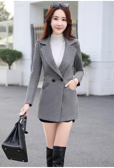 63% OFF Seoul in Love Baye Coat in Grey S$ 159.90 NOW S$ 59.90 Sizes S M L XL XXL